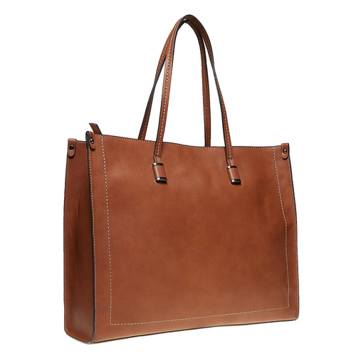 Borsetta marrone in stile Shopper bata, marrone, 961-3736 - 13