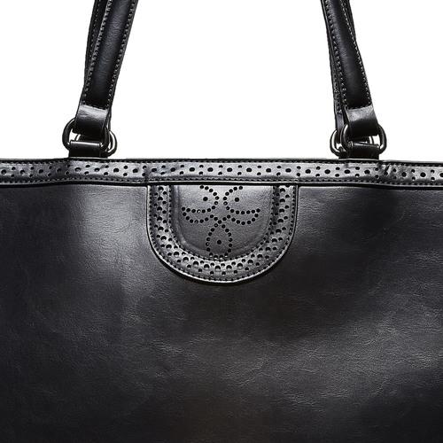 Borsetta in stile Shopper bata, nero, 961-6878 - 17