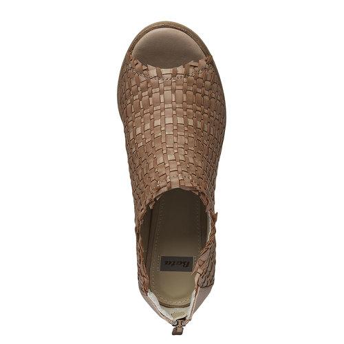 Sandali con punta aperta bata, marrone, 721-3945 - 19