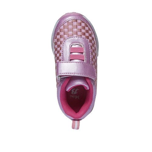 Sneakers da ragazza con chiusura a velcro mini-b, nero, 221-6119 - 19
