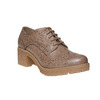 Scarpe basse con tacco stabile bata, marrone, 621-3191 - 13