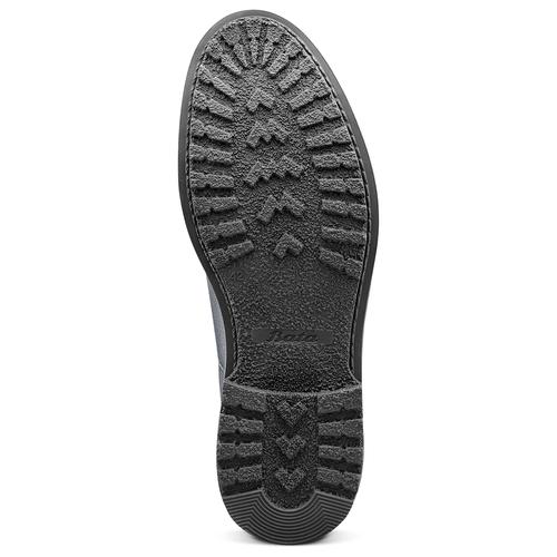 Scarpe blu di pelle alla caviglia bata, blu, 894-9522 - 17