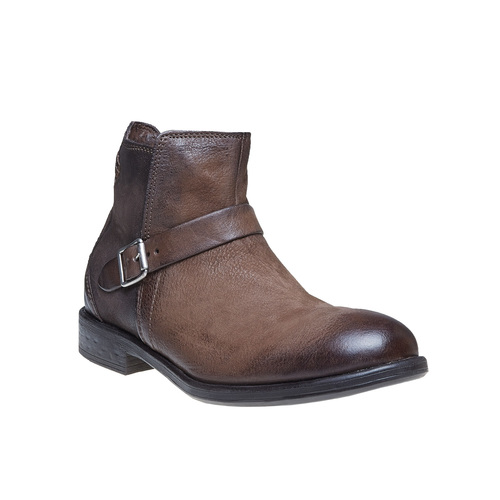 Scarpe da uomo alla caviglia con fibbia bata, marrone, 894-4482 - 13