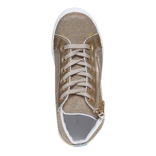 Sneakers dorate alla caviglia north-star, oro, 329-8236 - 19