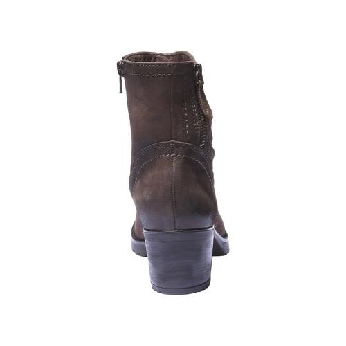 Stivaletti in pelle alla caviglia bata, marrone, 696-4128 - 17