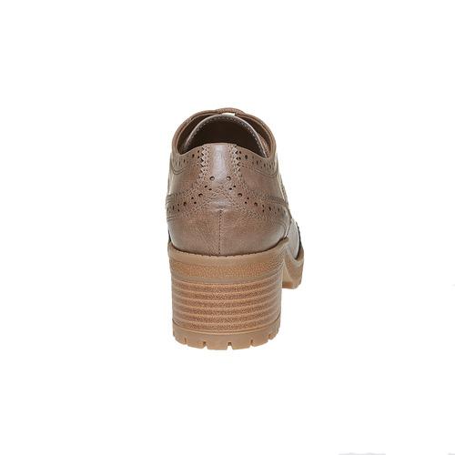 Scarpe basse con tacco stabile bata, marrone, 621-3191 - 17