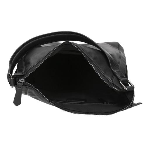 Borsetta di pelle nera in stile Hobo bata, nero, 964-6254 - 15