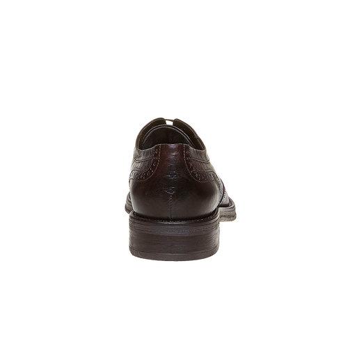 Scarpe basse di pelle con decorazione Brogue bata, marrone, 824-4577 - 17