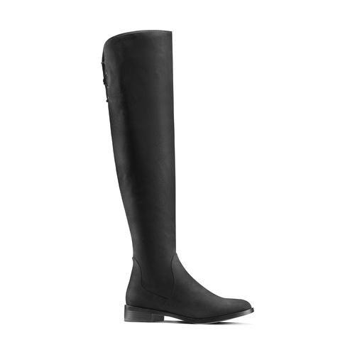 Stivali da donna sopra il ginocchio bata, nero, 599-6515 - 13