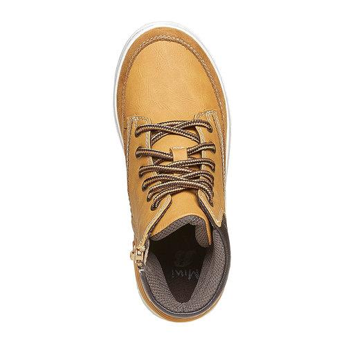 Scarpe da bambino alla caviglia mini-b, giallo, 391-8257 - 19