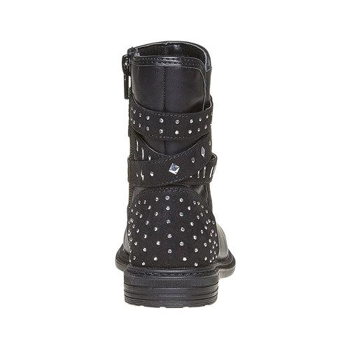 Stivaletti da ragazza con fibbie mini-b, nero, 291-6156 - 17