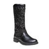 Stivali da ragazza con glitter mini-b, nero, 291-6165 - 13