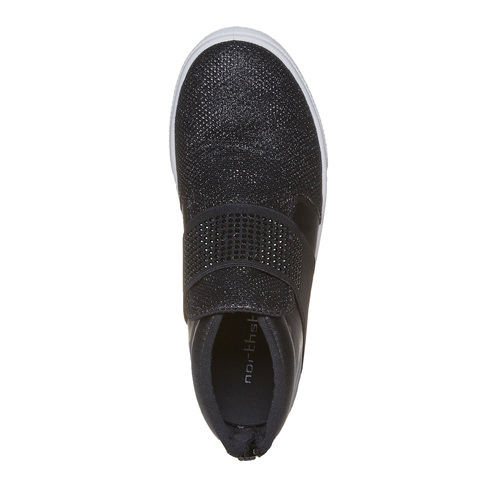 Slip-on da bambina alla caviglia north-star, nero, 329-6223 - 19