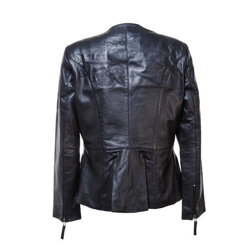 Giacca nera da donna in pelle bata, nero, 974-6173 - 26