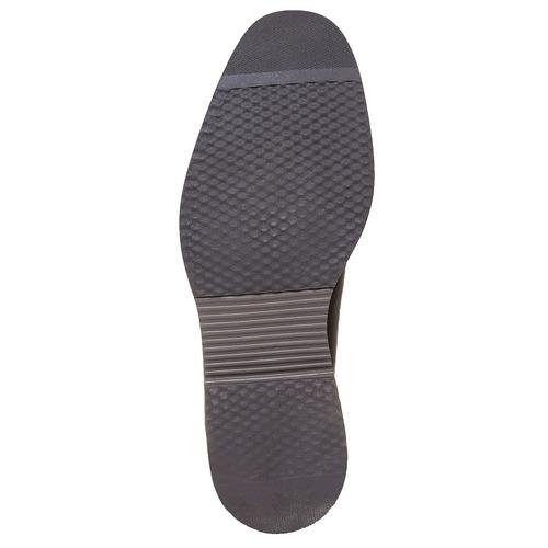 Scarpe basse di pelle con suola ampia bata-light, marrone, 824-4643 - 26