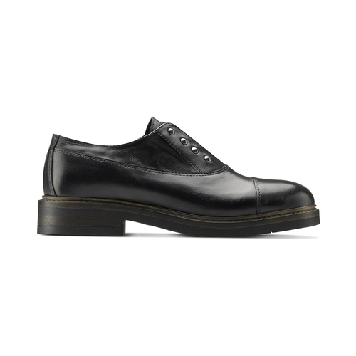 Slip-on in pelle da donna bata, nero, 514-6248 - 26