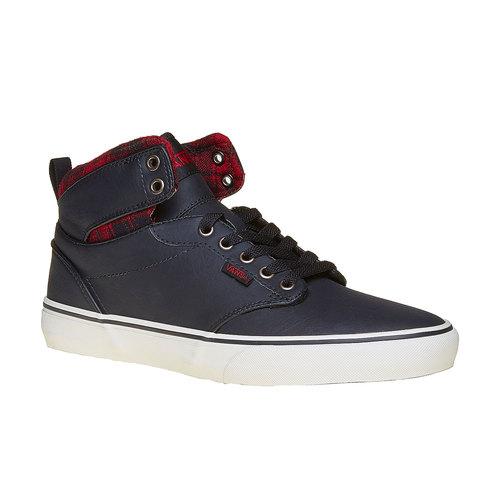Sneakers da uomo alla caviglia vans, nero, 801-6308 - 13
