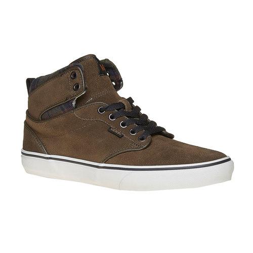 Sneakers Vans di pelle alla caviglia vans, marrone, 803-7309 - 13
