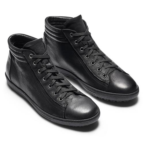 Sneakers da donna alla caviglia bata, nero, 594-6659 - 19