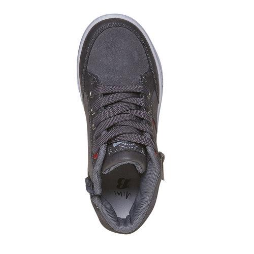 Sneakers di pelle alla caviglia mini-b, grigio, 313-2236 - 19