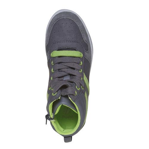 Sneakers da bambino alla caviglia mini-b, grigio, 311-2232 - 19