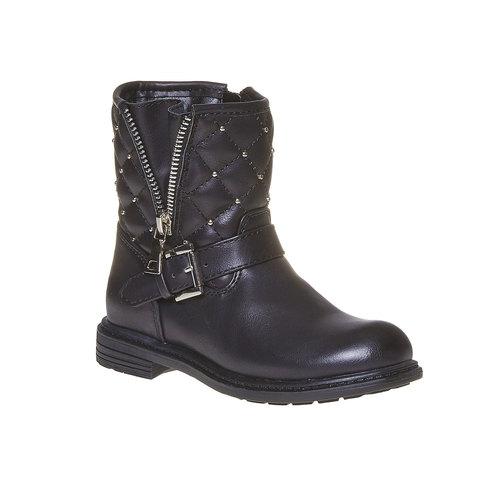 Scarpe da ragazza alla caviglia mini-b, nero, 291-6157 - 13