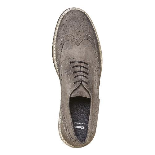 Scarpe basse da uomo in stile Derby bata, grigio, 823-2177 - 19