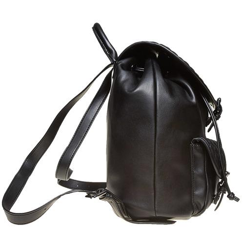 Zaino elegante con cuciture bata, nero, 961-6607 - 26