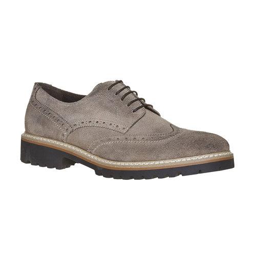 Scarpe basse da uomo in stile Derby bata, grigio, 823-2177 - 13