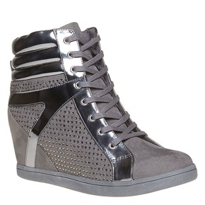 Sneakers alla moda da donna north-star, grigio, 729-2360 - 13