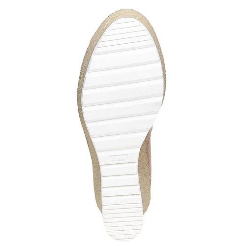 Scarpe da donna alla caviglia con plateau bata, grigio, 799-2254 - 26