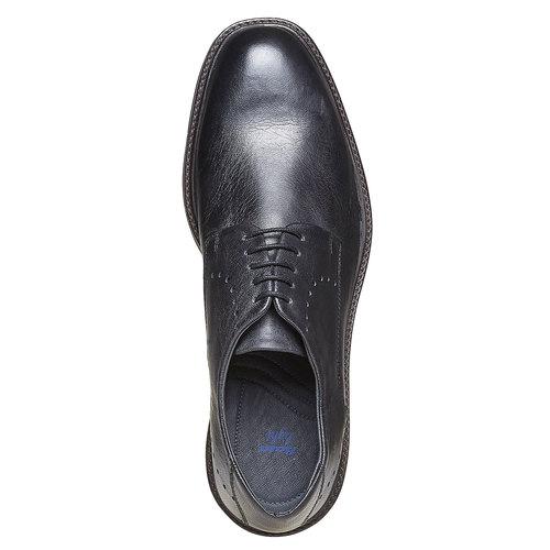 Scarpe basse di pelle con suola ampia bata-light, nero, 824-6643 - 19