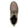 Scarpe da bambina con allacciatura e strass mini-b, marrone, 391-3262 - 19
