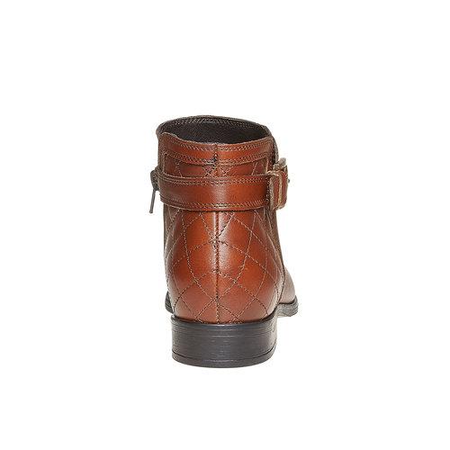 Scarpe di pelle alla caviglia con cuciture bata, marrone, 594-3167 - 17