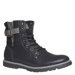 Scarpe da uomo alla caviglia bata, nero, 891-6237 - 13