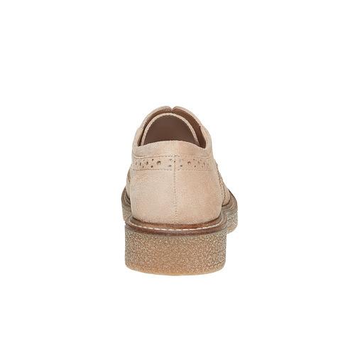 Scarpe basse da donna in stile Oxford bata, marrone, 529-3143 - 17