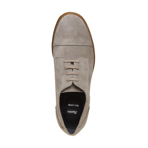 Scarpe basse casual di pelle bata, grigio, 523-2262 - 19