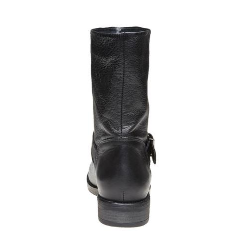 Stivali da donna con fibbia bata, nero, 594-6125 - 17
