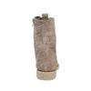 Scarpe in pelle da donna con lacci bata, grigio, 593-2107 - 17