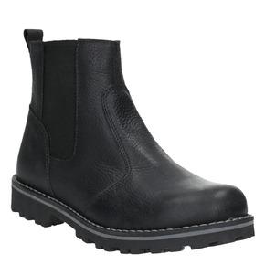 Scarpe in pelle da bambino sopra la caviglia mini-b, nero, 394-6316 - 13