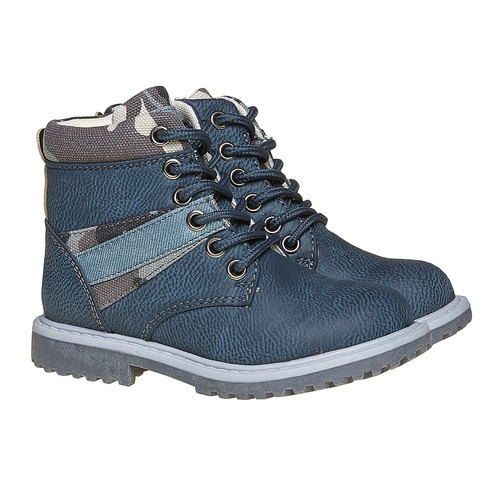 Scarpe da bambino alla caviglia mini-b, blu, 291-9163 - 26