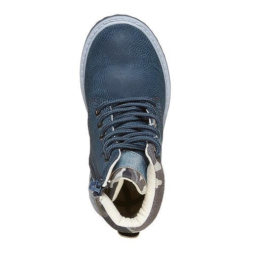 Scarpe da bambino alla caviglia mini-b, blu, 291-9163 - 19