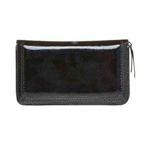 Portafoglio verniciato da donna bata, nero, 941-6141 - 17