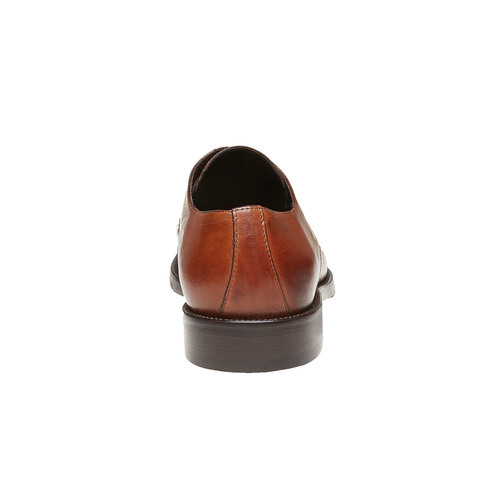 Scarpe basse di pelle con suola in pelle bata-the-shoemaker, marrone, 824-3185 - 17