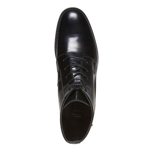 Scarpe di pelle sopra la caviglia con lacci bata, nero, 594-6100 - 19