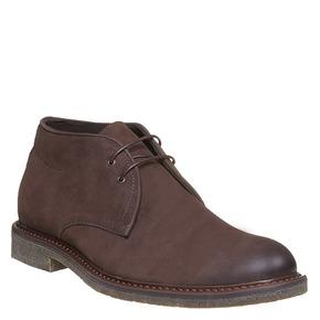 Scarpe da uomo in pelle in stile Desert Boots bata, marrone, 846-4649 - 13