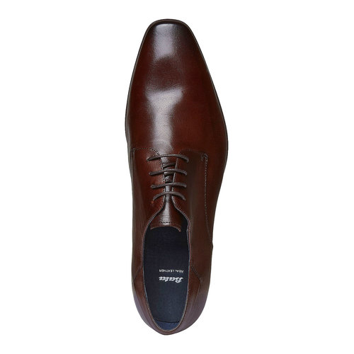 Scarpe basse di pelle in stile Derby bata, marrone, 824-4536 - 19