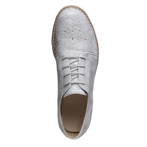 Scarpe basse da donna bata, grigio, 521-2477 - 19