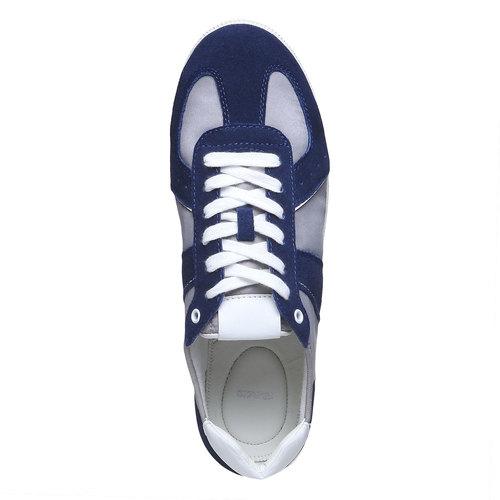 Sneakers informali da uomo bata, blu, 849-9653 - 19