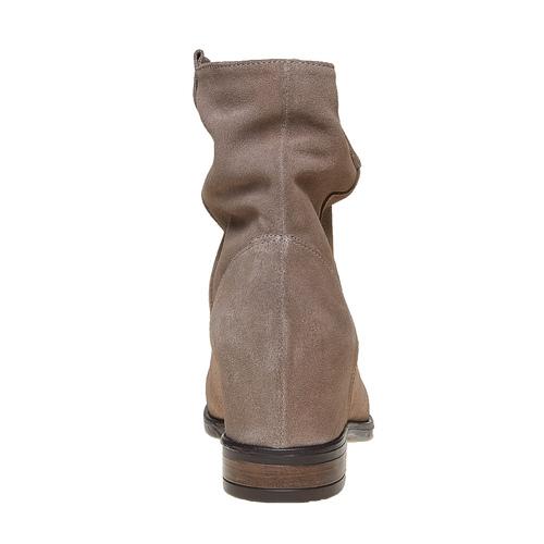 Stivali in pelle da donna bata, grigio, 693-2391 - 17